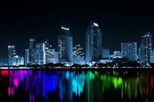 colourfull city lights by mu6