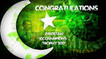 congratulations for icc champion trophy 2017 by mu6