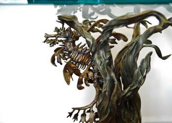 Leafy sea dragon end table in bronze by bronze4u