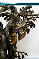 Leafy Sea Dragon end table by bronze4u