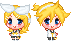 Kagamine Tiny Doll Pair by Rey-Of-Sunlight