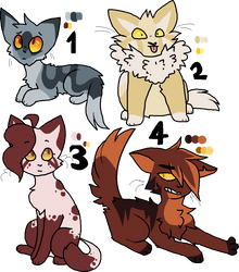 Amber eyed adoptables (1/4 OPEN) by Please-i-love