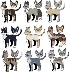 9 cat adoptables (OPEN) by Please-i-love