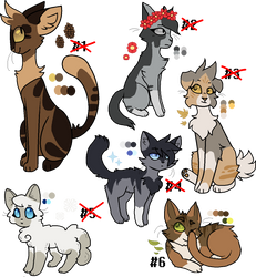 Forest Feline Adoptables (CLOSED) by Please-i-love