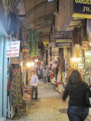 Souk in Jerusalem by jlpicard1701e