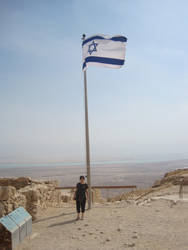 Flag above Matsada by jlpicard1701e