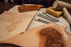 Leather practice and tools by jlpicard1701e