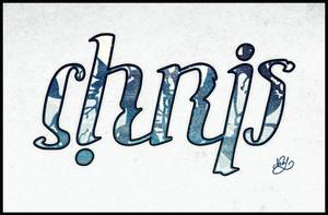 Chris Ambigram Tattoo by mezwik