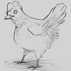 Inktober Day 5: Chicken by Votdren