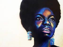 Portrait of Nina Simone by JessKristen