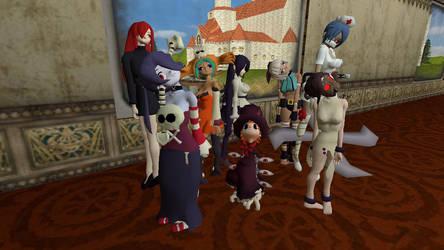 Skullgirls cast in the Mushroom Kingdom by DarkIggyKoopa