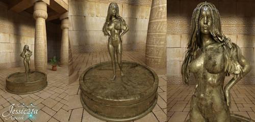 Egyptian Gold Sacrifice by Jessic21a
