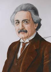Albert Einstein by GuillermoLabrador