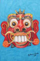 Rangda Mask by GuillermoLabrador