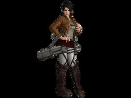 DOA5 LR Momiji Attack on Titan costume by zareef