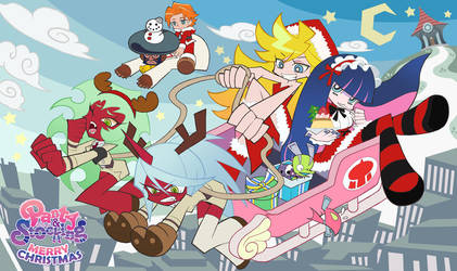 Panty and Stocking with Garterbelt-Stocking X'mas by rolan666