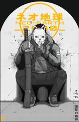 NEO-EARTH 2040: Tom Noir Poster- Kitsune by TheChrisPMan