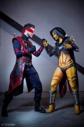 D'Vorah vs Kenshi (Mortal Kombat X) by SabiNoir
