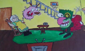 Courage The Cowardly Dog by roxybaby528