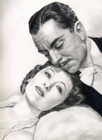 William Powell and Myrna Loy by johndibiase