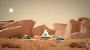 Martian Oasis by smnbrnr