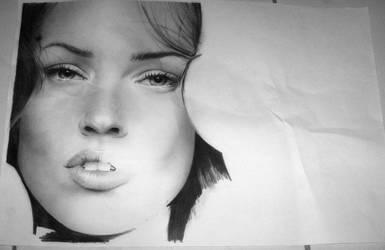 Megan Fox WIP by eileenirma