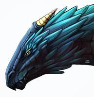Dragon bust by YukiAnne-chan
