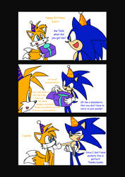 Sonic's 18th Birthday--page 1 by SonicFF