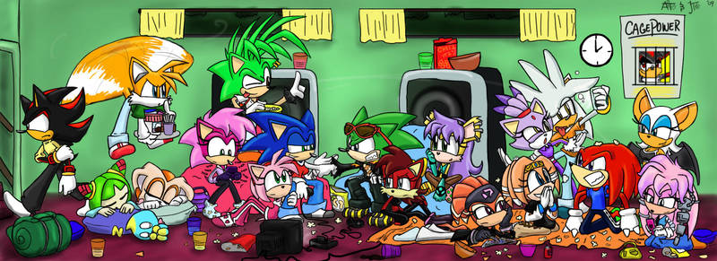 .:REQUEST:. Slumber Party by SonicFF