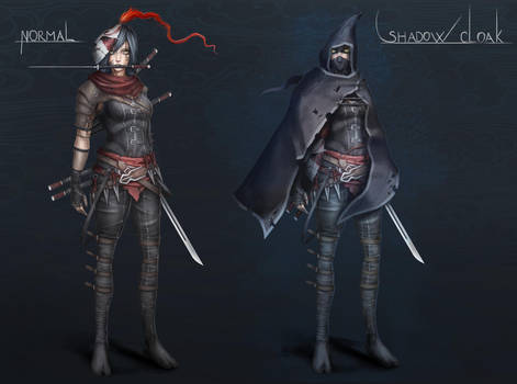 Female Assassin Character Concept Art Paintning by Sarlah
