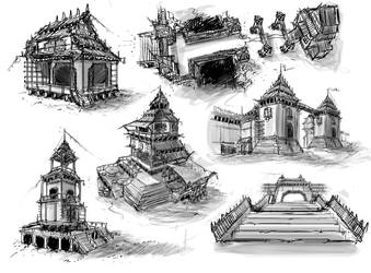 Building Sketches by Sarlah