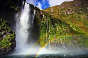 Rainbow Fall by CainPascoe