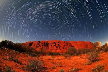 Uluru Star Trails by CainPascoe