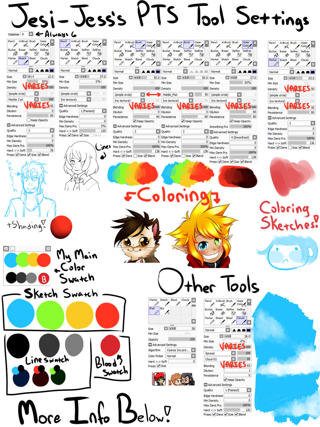 Paint Tool Sai Tools and Swatches v2 by Jesi-Jess