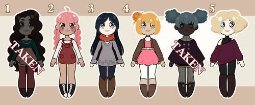 [ADOPTS] The Girls - 3$/300points (Open) by Jesi-Jess
