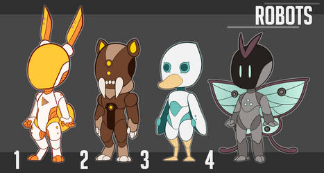[ADOPTS] Robots - 15$ (OPEN) by Jesi-Jess