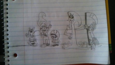 The Cast of The Grim Adventures of Jimmy Neutron by crazycartoons5488