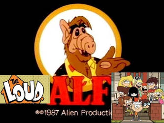 The Loud Kids Meets  ALF by crazycartoons5488
