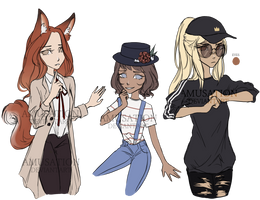 [OTA/NYP - Points Only OPEN] Girl Adoptables by amusation
