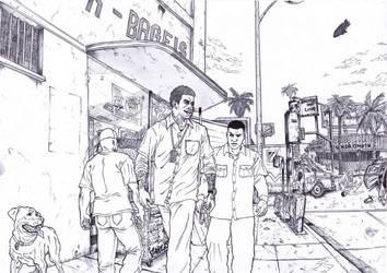 GTA 5 Franklin Clington by BigDadyBear