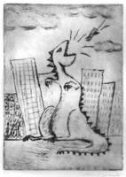 Dinosaur Print part 1 by bluecatqueen