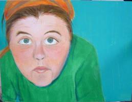 Color self-portrait by bluecatqueen