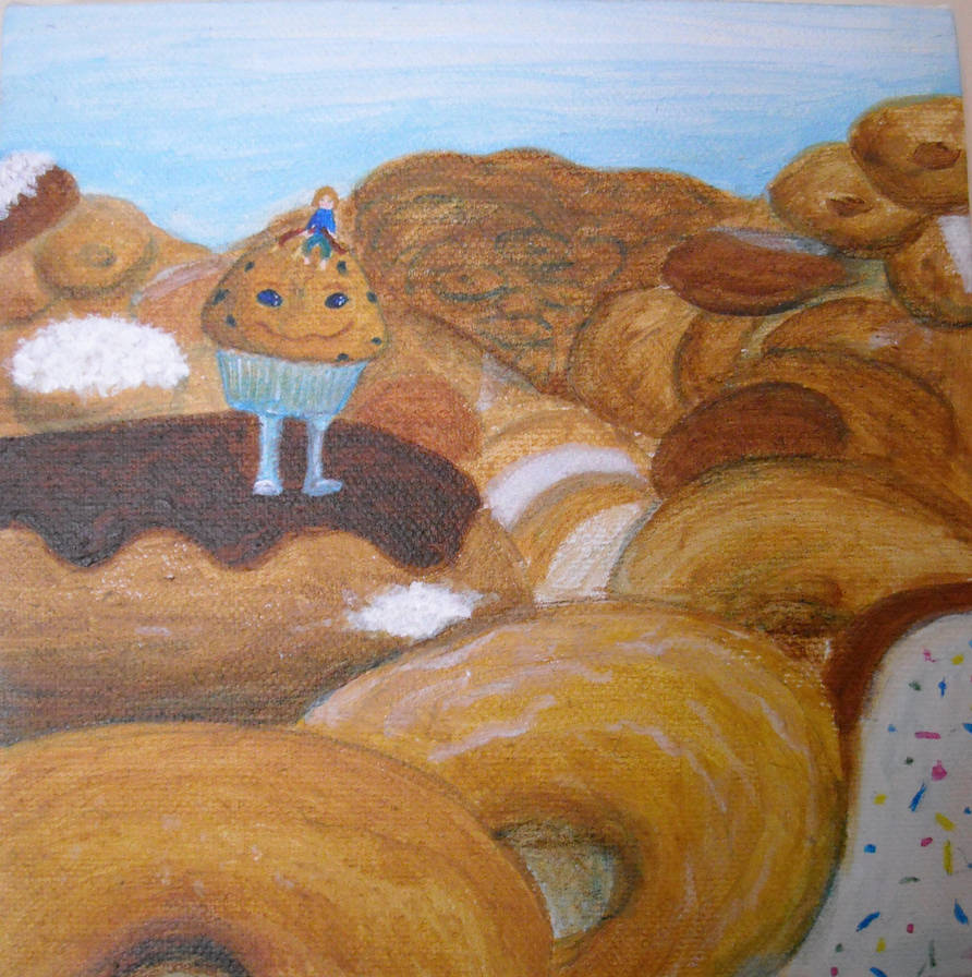 Gluten Dreams-Donut Mountains by bluecatqueen