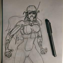 Cyborg Girl by PFigg