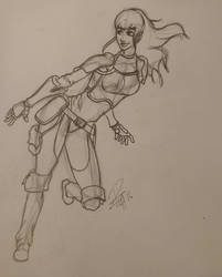 Female Warrior by PFigg