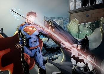 Fight in Gotham - Color by axone213