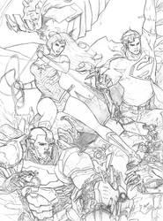 Superman / Wonder Woman / Cyborg by axone213