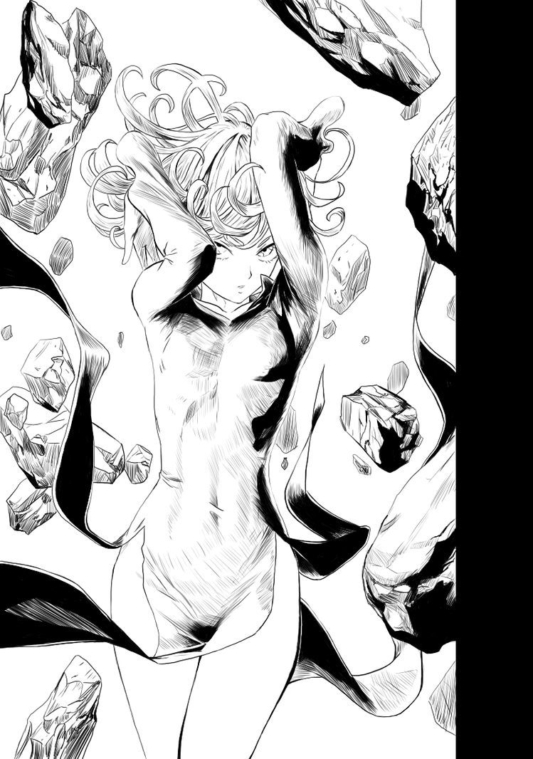 Tatsumaki - LineArt by axone213