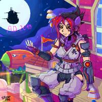 Art Trade with Punkbot08 by SpideyHog