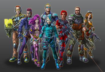 Nightlancers Game Characters by Manolis Frangidis by MalDuDepart